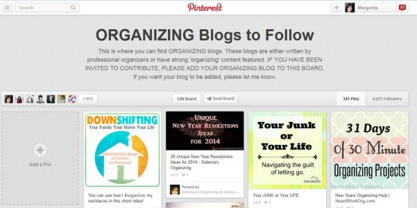 Organizing Blogs to Follow Pinterest Board from @DownshiftingPRO