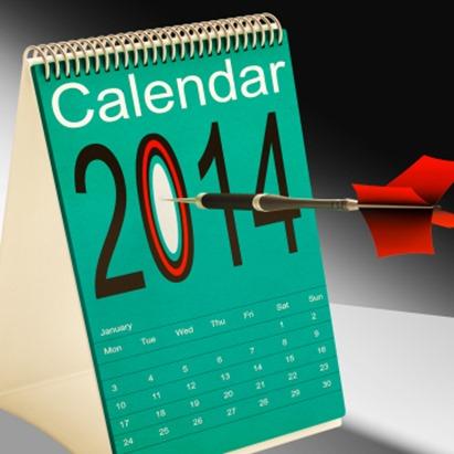 2014 calendar target shows year organizer